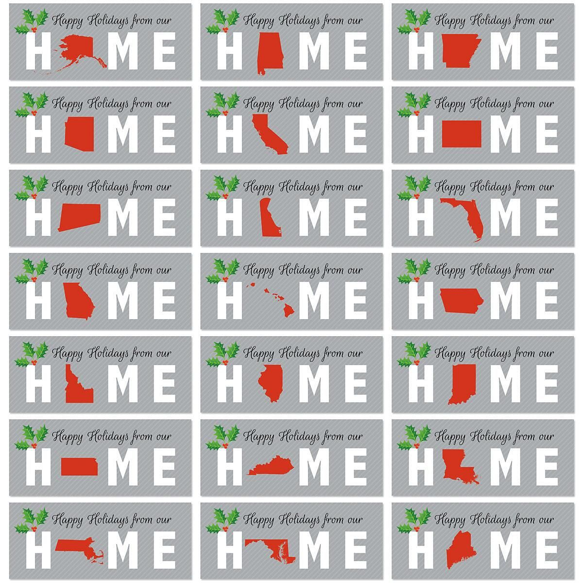 Home State  Personalized Classic Christmas Cards