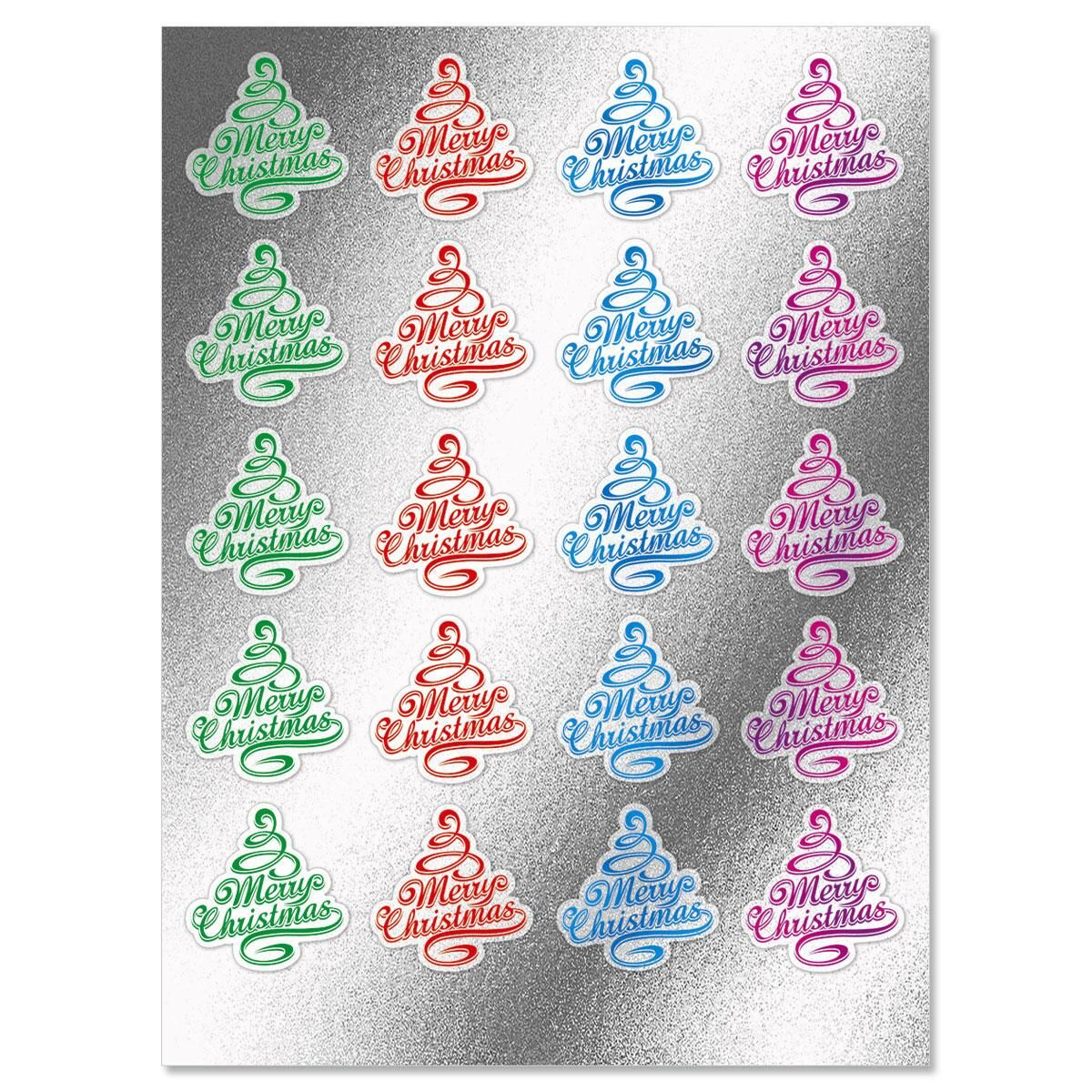 Foil Christmas Tree Envelope Sticker Seals