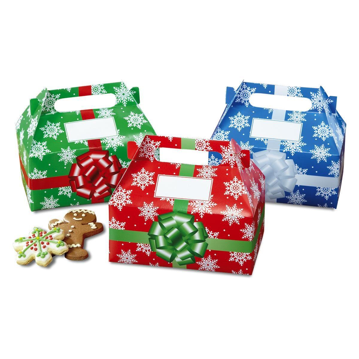 Snowflakes Holiday Fun Treat Boxes