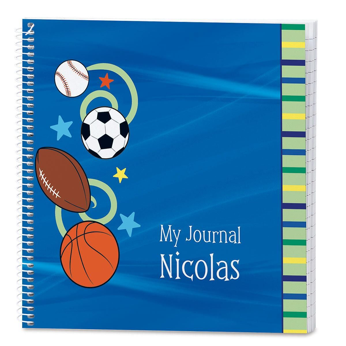 Sports Balls Personalized Journal