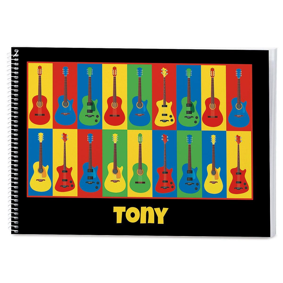 Guitar Personalized Sketchbook