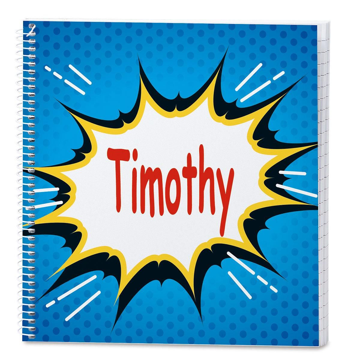 Super Hero Personalized Journal