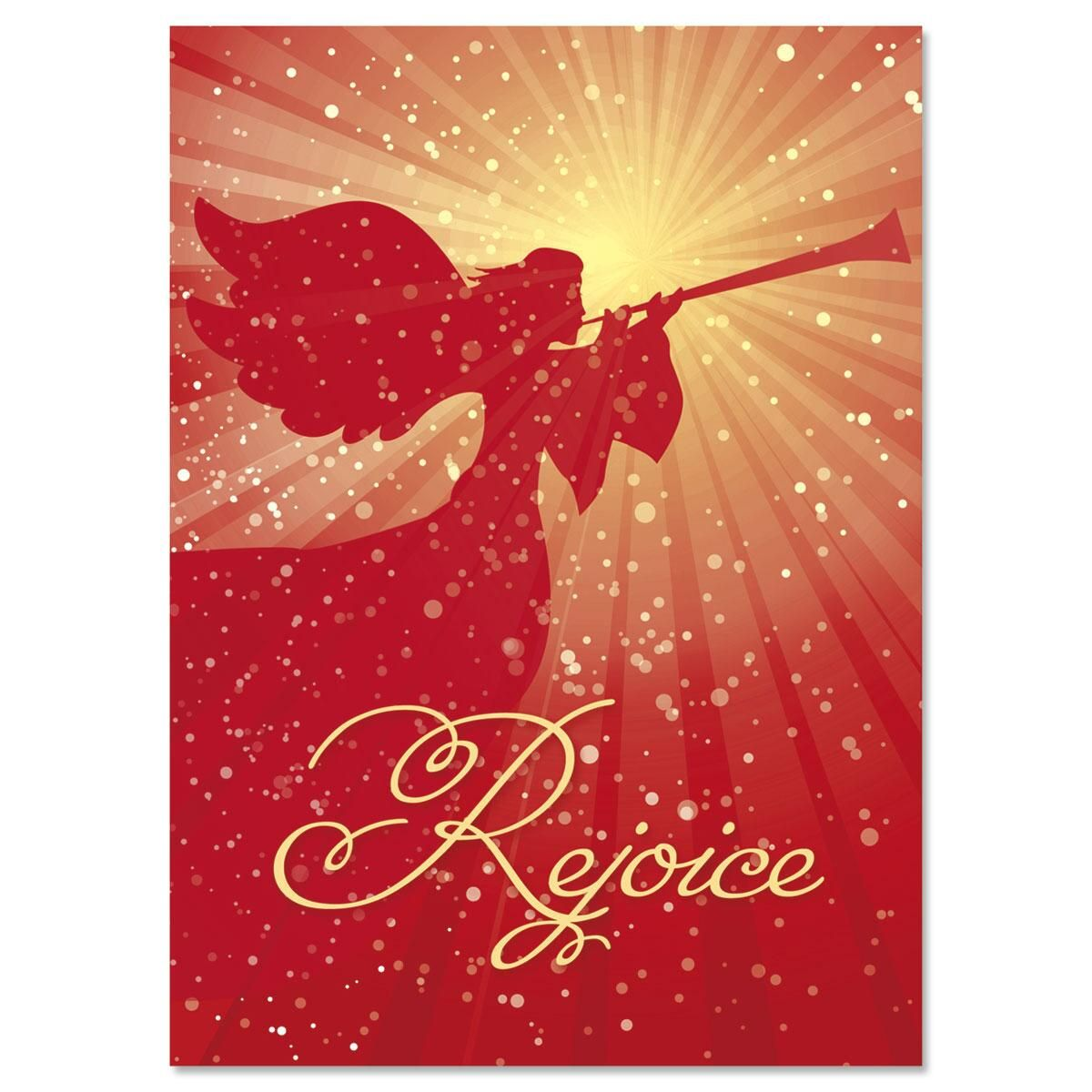 Rejoice Nonpersonalized Christmas Cards - Set of 18