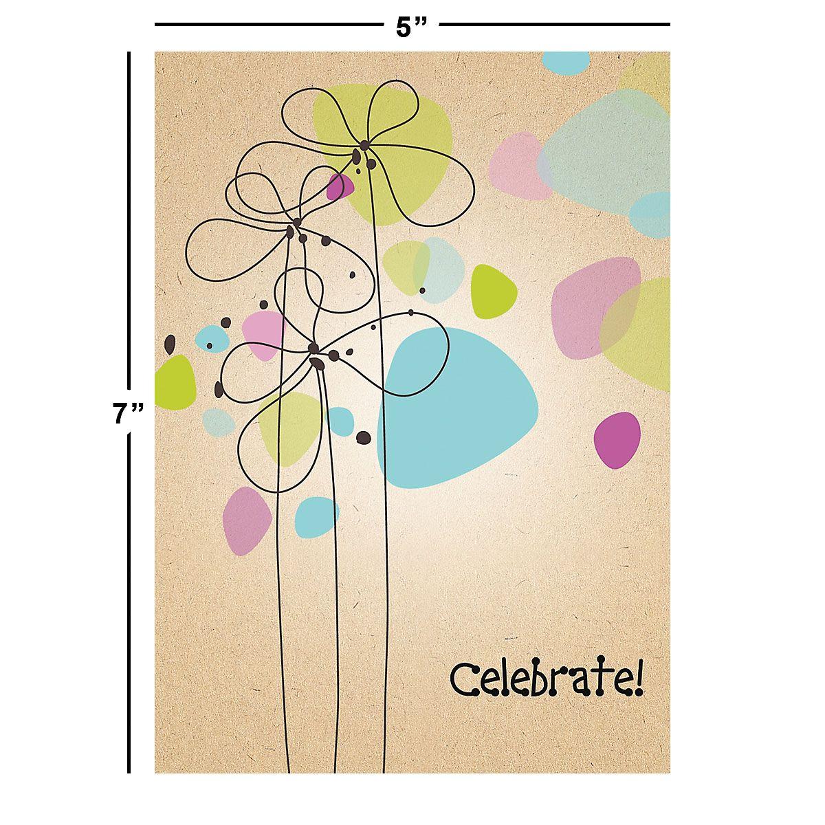 Kraft Blossoms Birthday Cards Value Pack