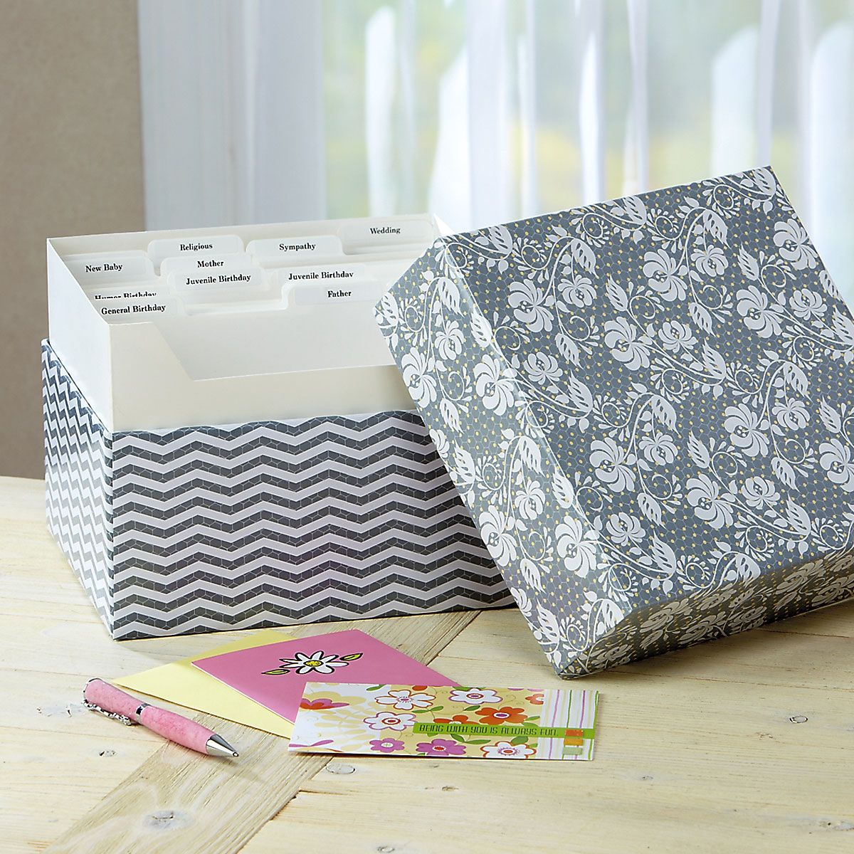 Greeting Card Organizer Box