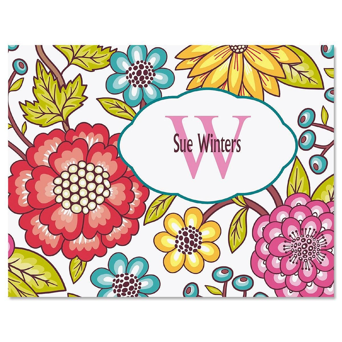 Garden Whimsy Personalized Note Cards