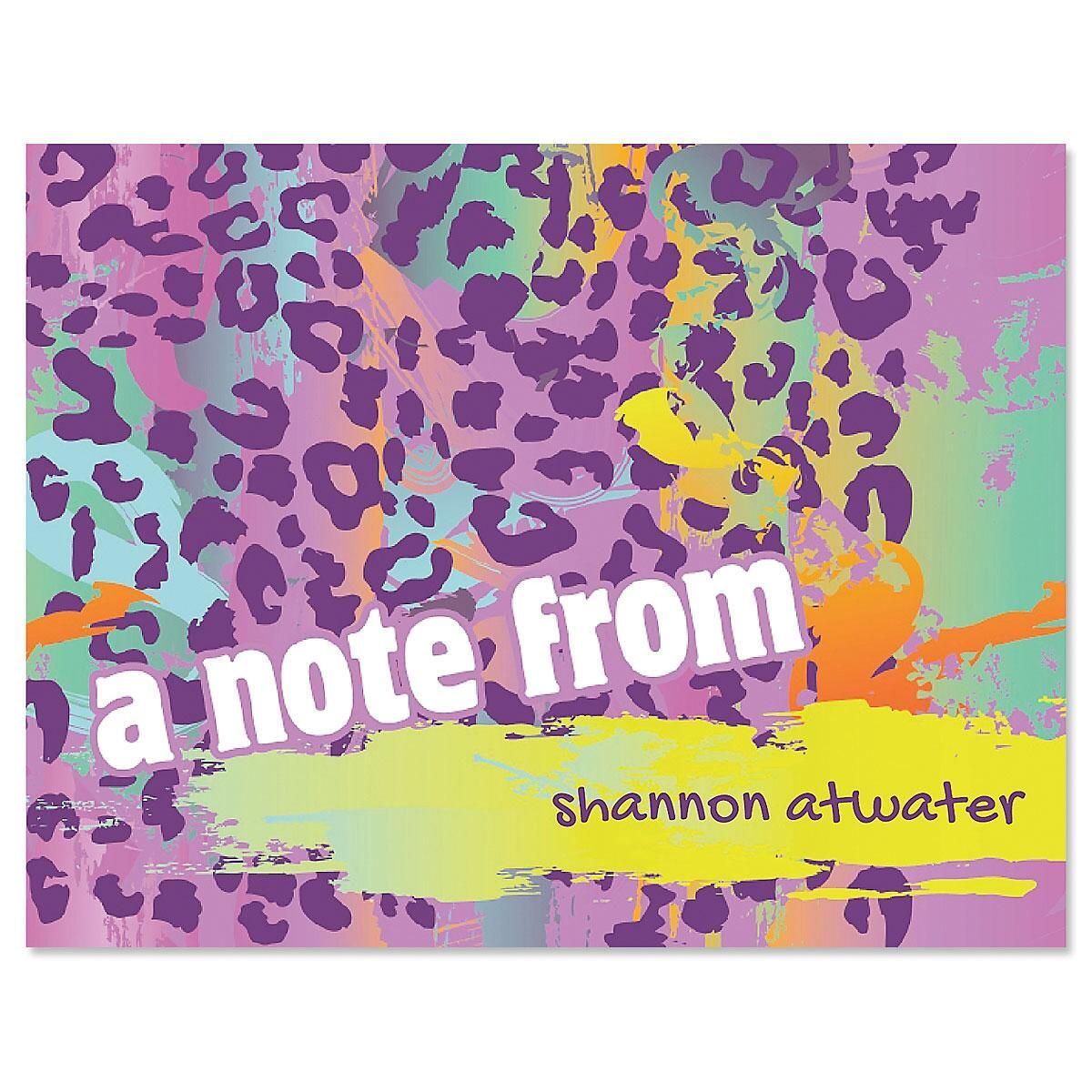Neon Cheetah Note Cards