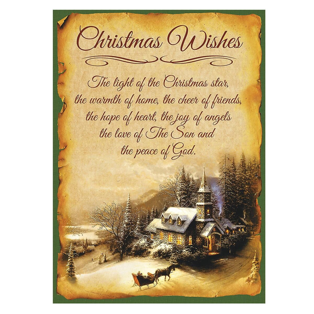 Vintage Americana Nonpersonalized Christmas Cards - Set of 72
