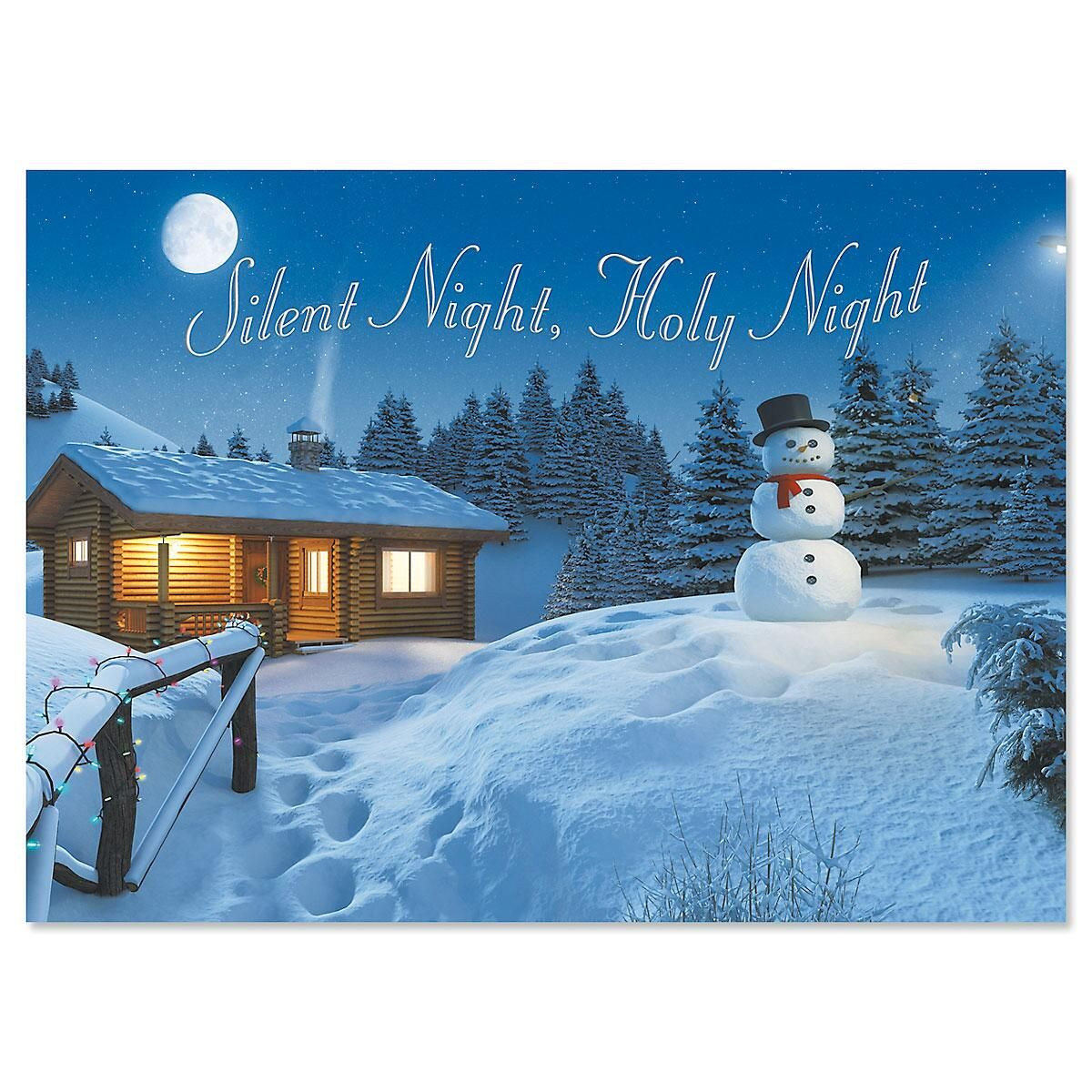 Peaceful Night Christmas Cards