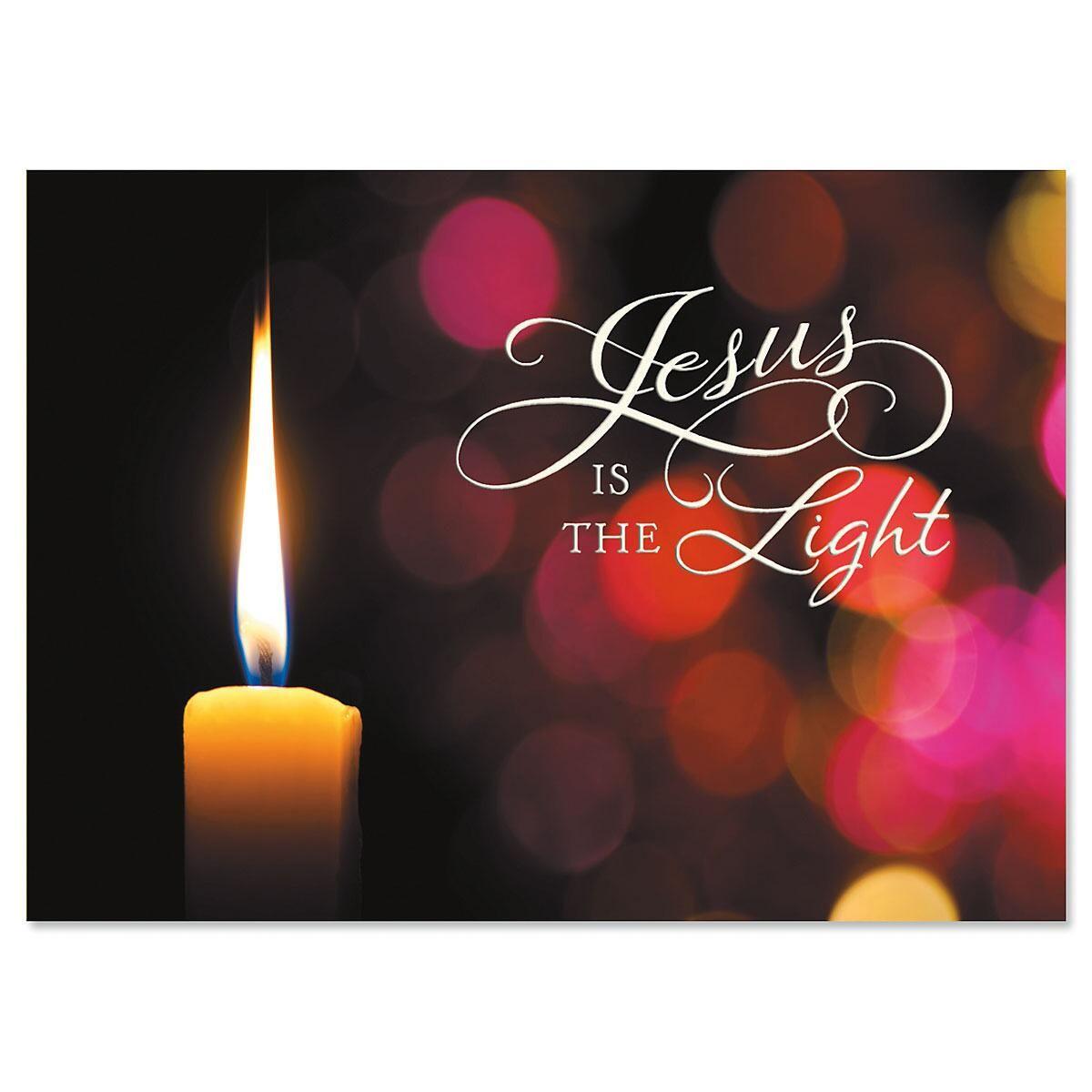 Light of Life Religious Christmas Cards