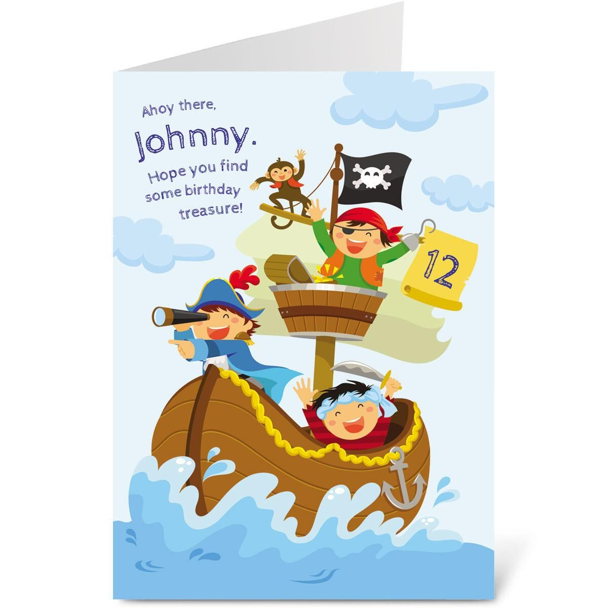 Pirate Birthday Create-A-Card