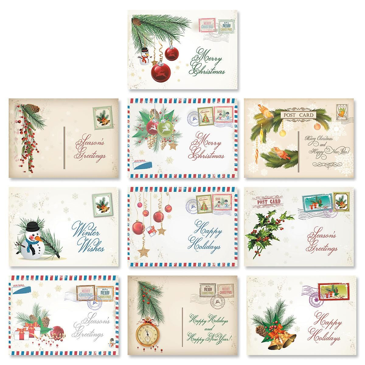 Vintage Christmas Cards Value Pack