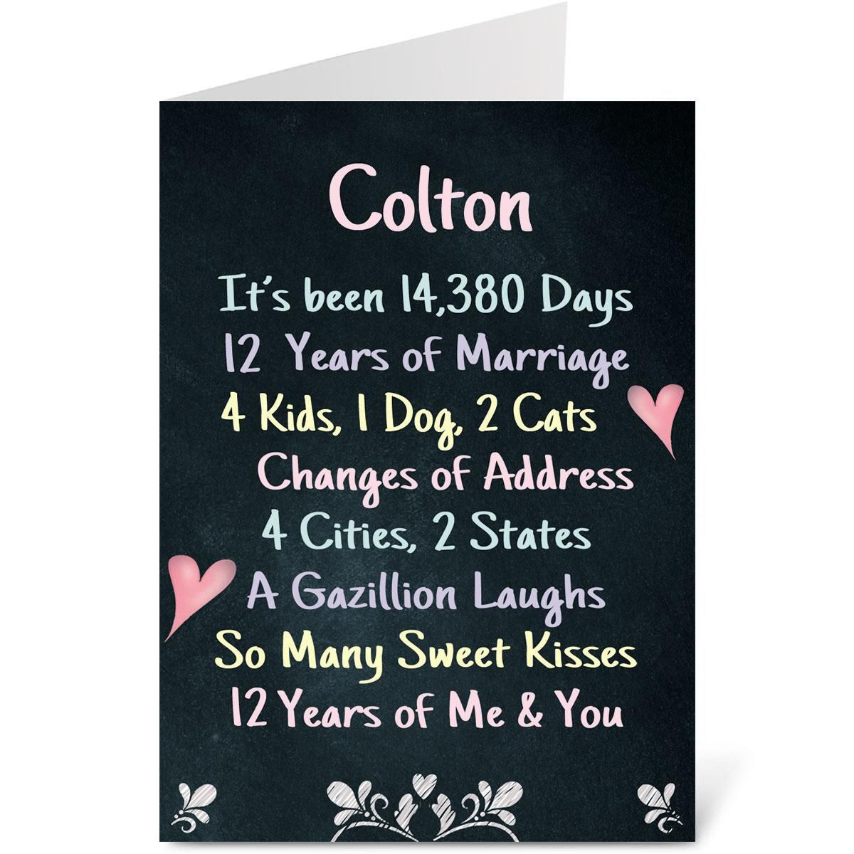 Our Life Chalkboard Valentine Create-A-Card