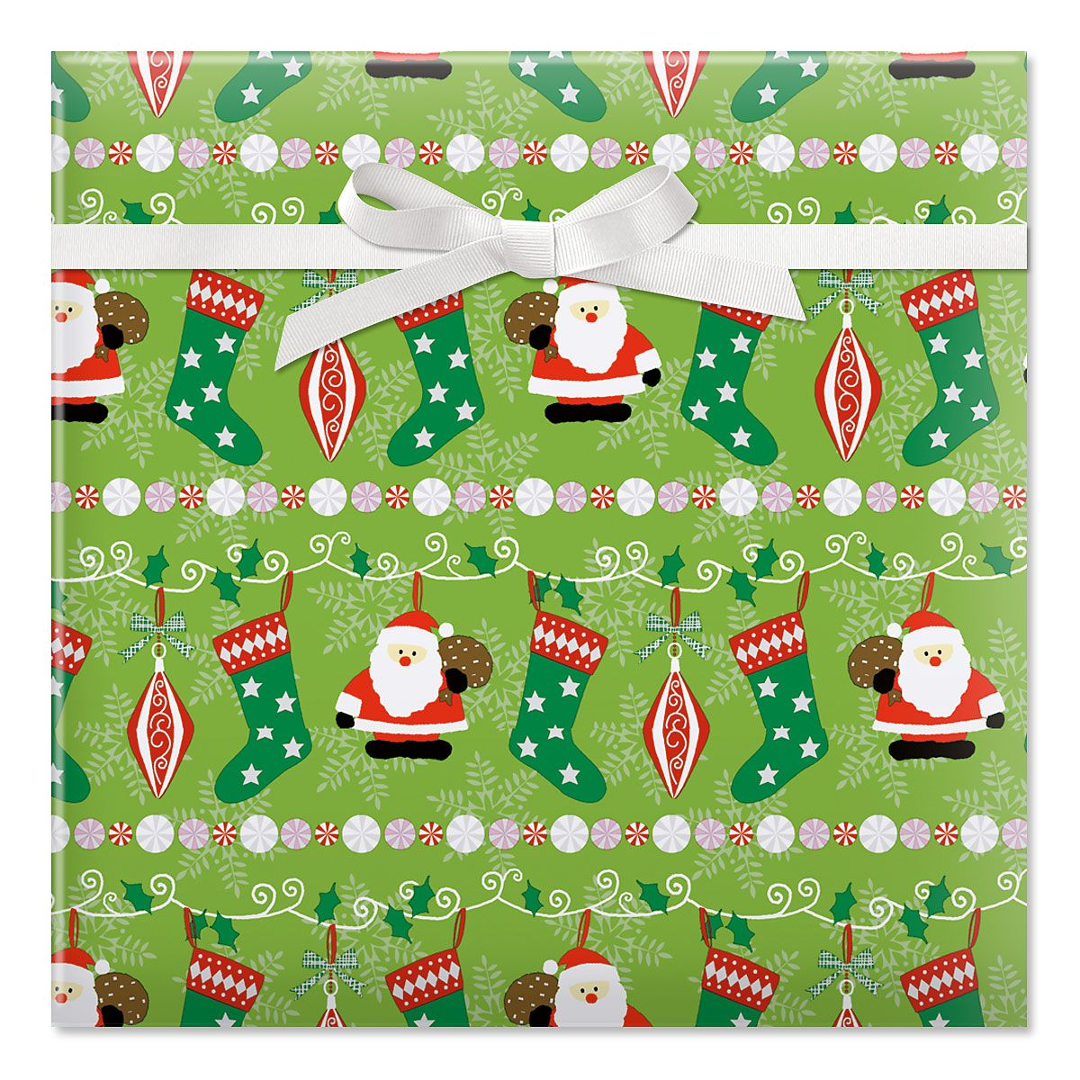 Holly, Jolly Christmas Jumbo Rolled Gift Wrap