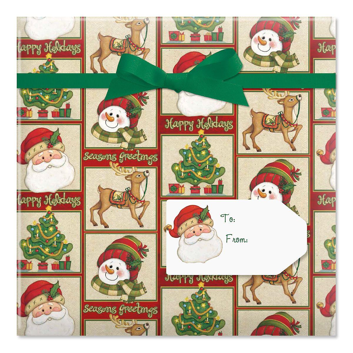 Warm Wishes Jumbo Rolled Gift Wrap