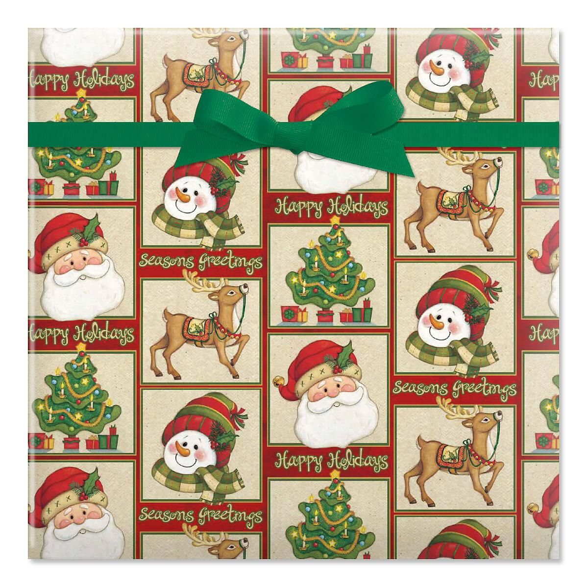 Warm Wishes Jumbo Rolled Gift Wrap