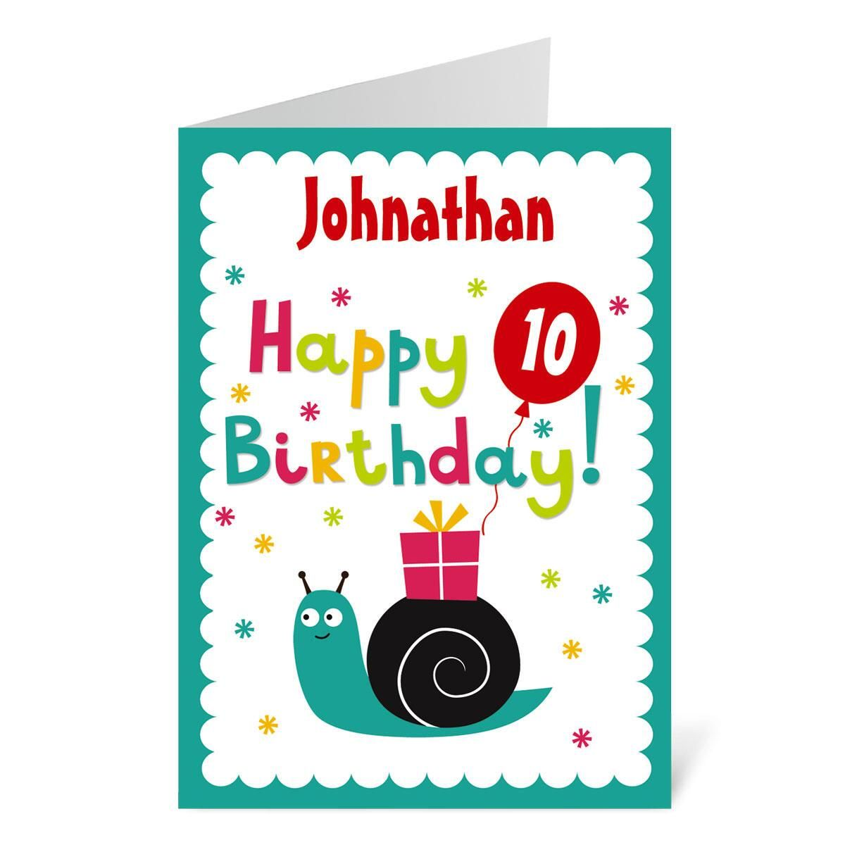 Snail Birthday Create-A-Card