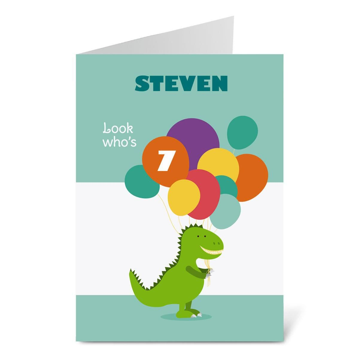 Dinosaur Birthday Create-A-Card