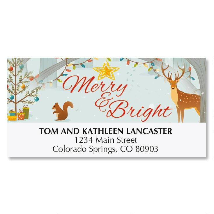 Woodland Holidays Matching Labels