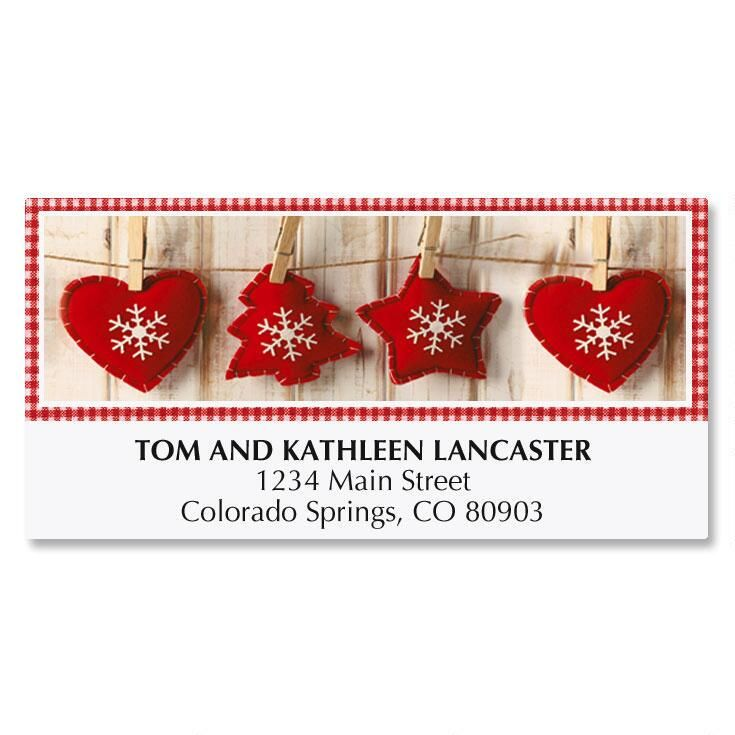Felt Ornaments Deluxe Address Labels