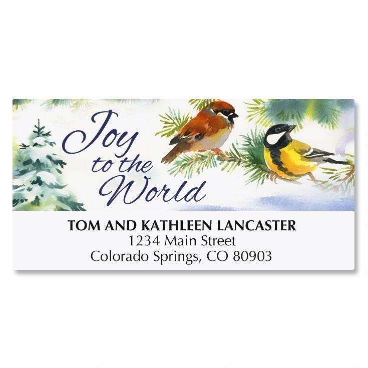 Joyful Birds Matching Labels