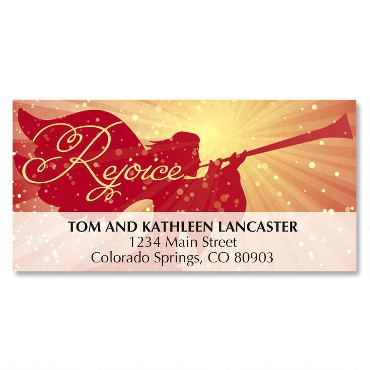 Angelic Rejoice Deluxe Address Labels