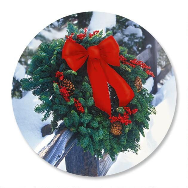 Holiday Wreath Seals