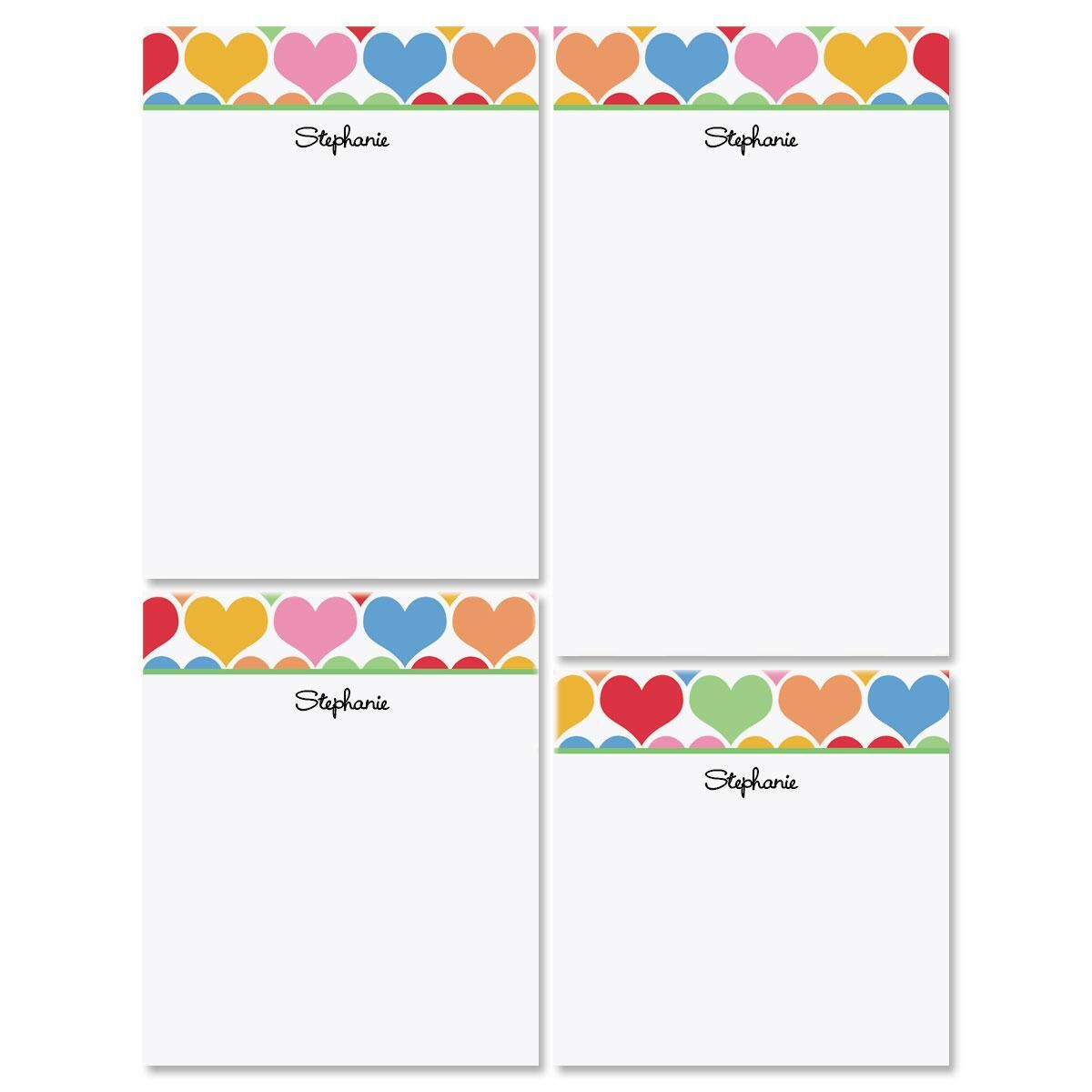 Happy Hearts Notepad Set
