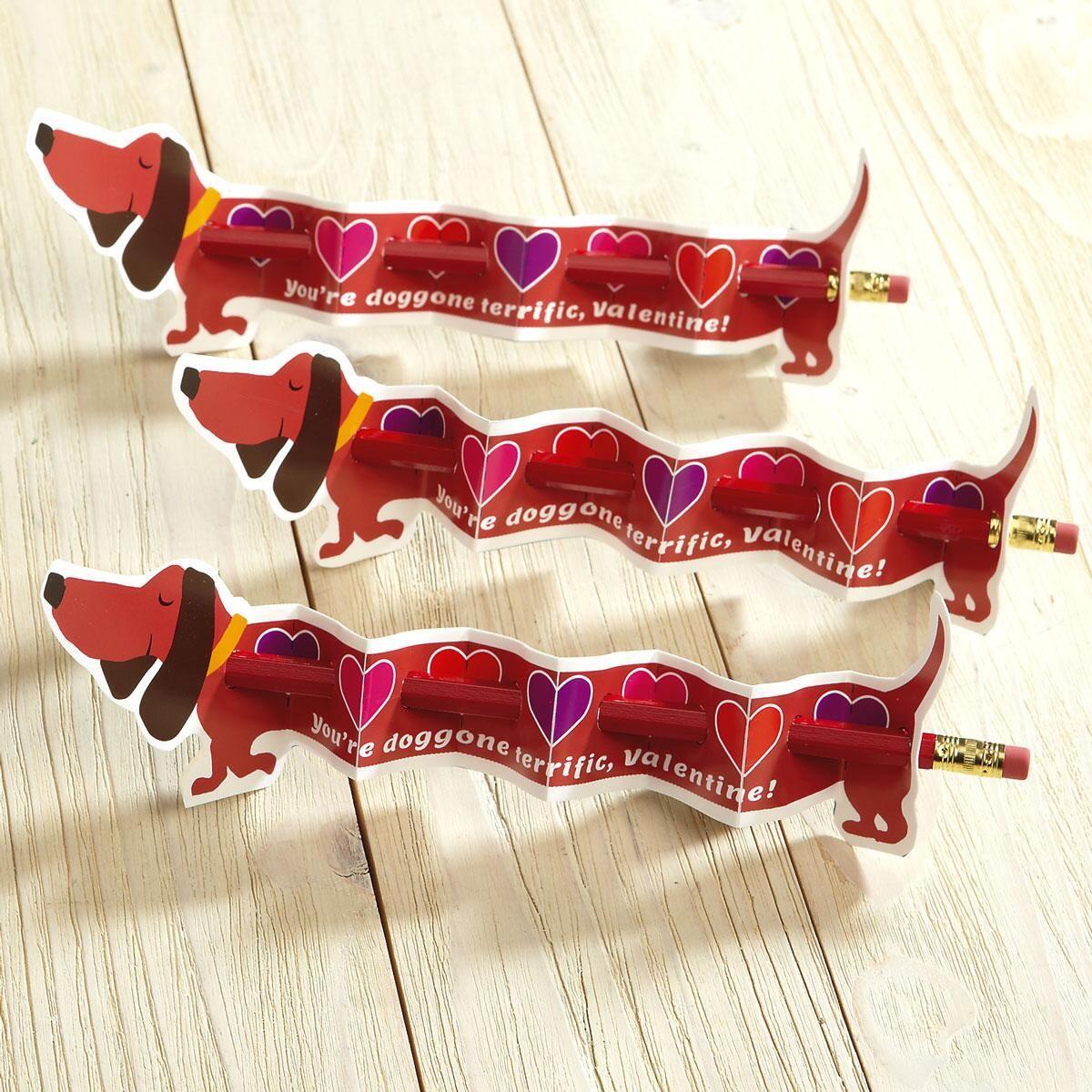Dog Valentine Pencil Holders