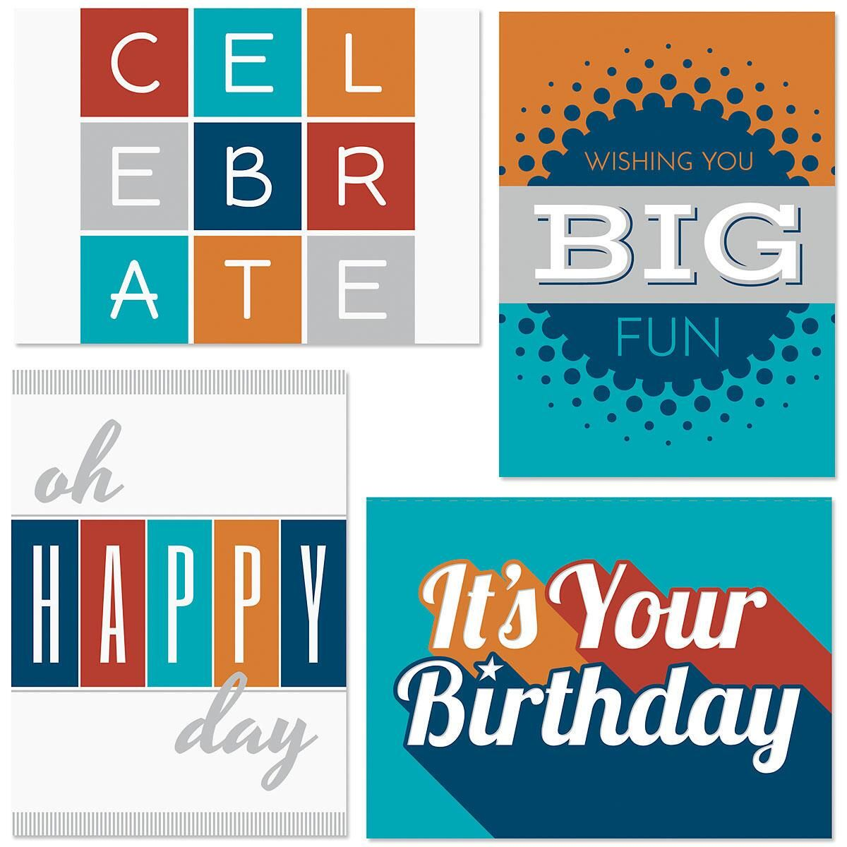 Modern Masculine Birthday Cards