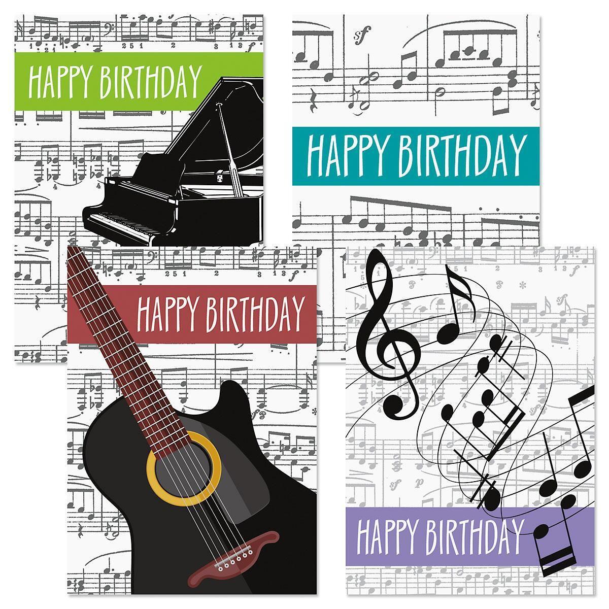 Music Birthday Cards