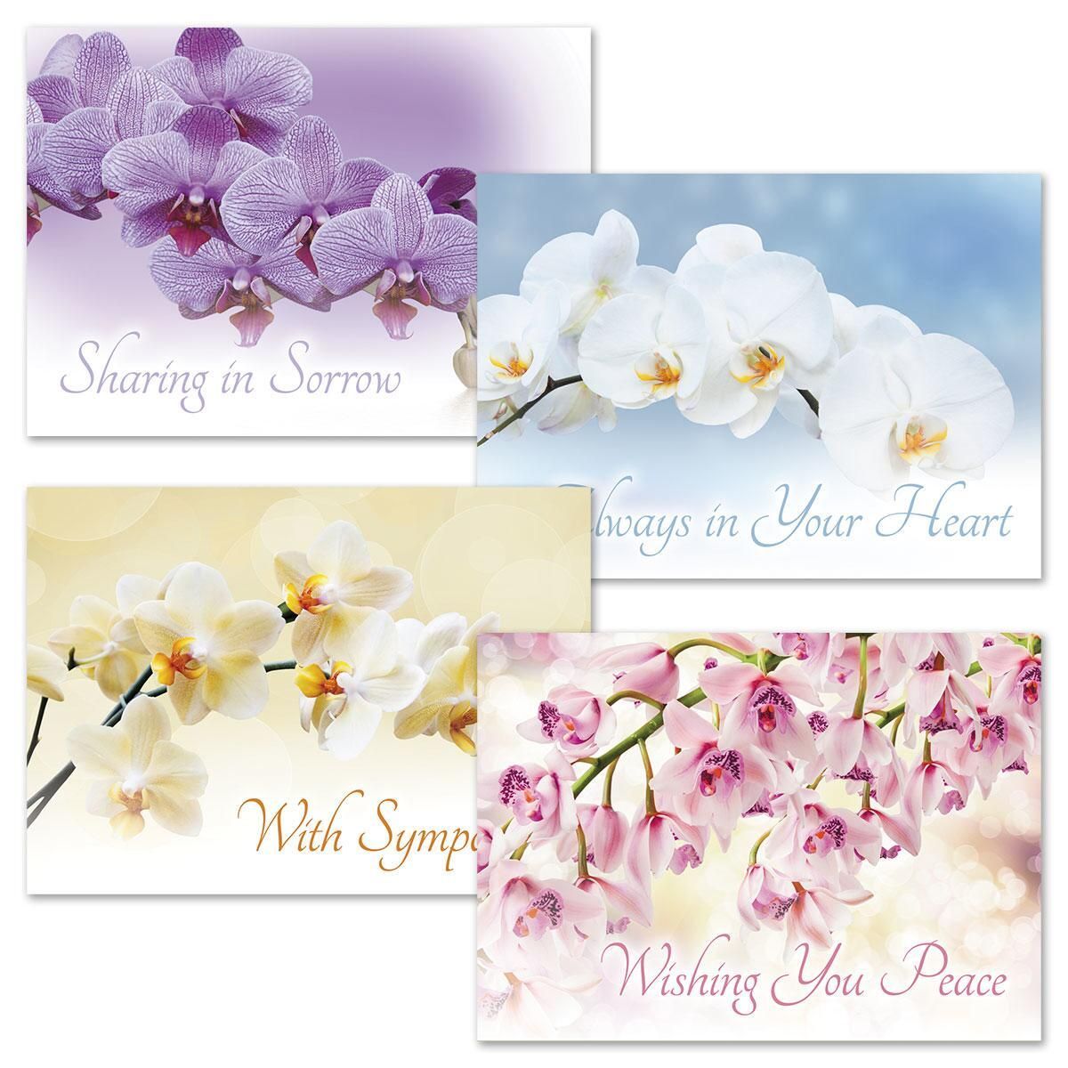 Orchid Sympathy Cards & Seals