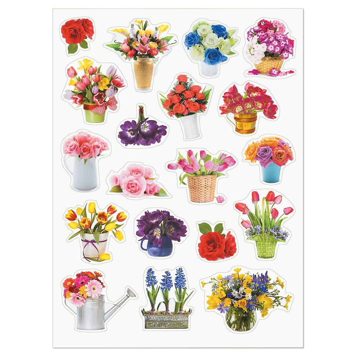 Photo Floral Stickers - BOGO