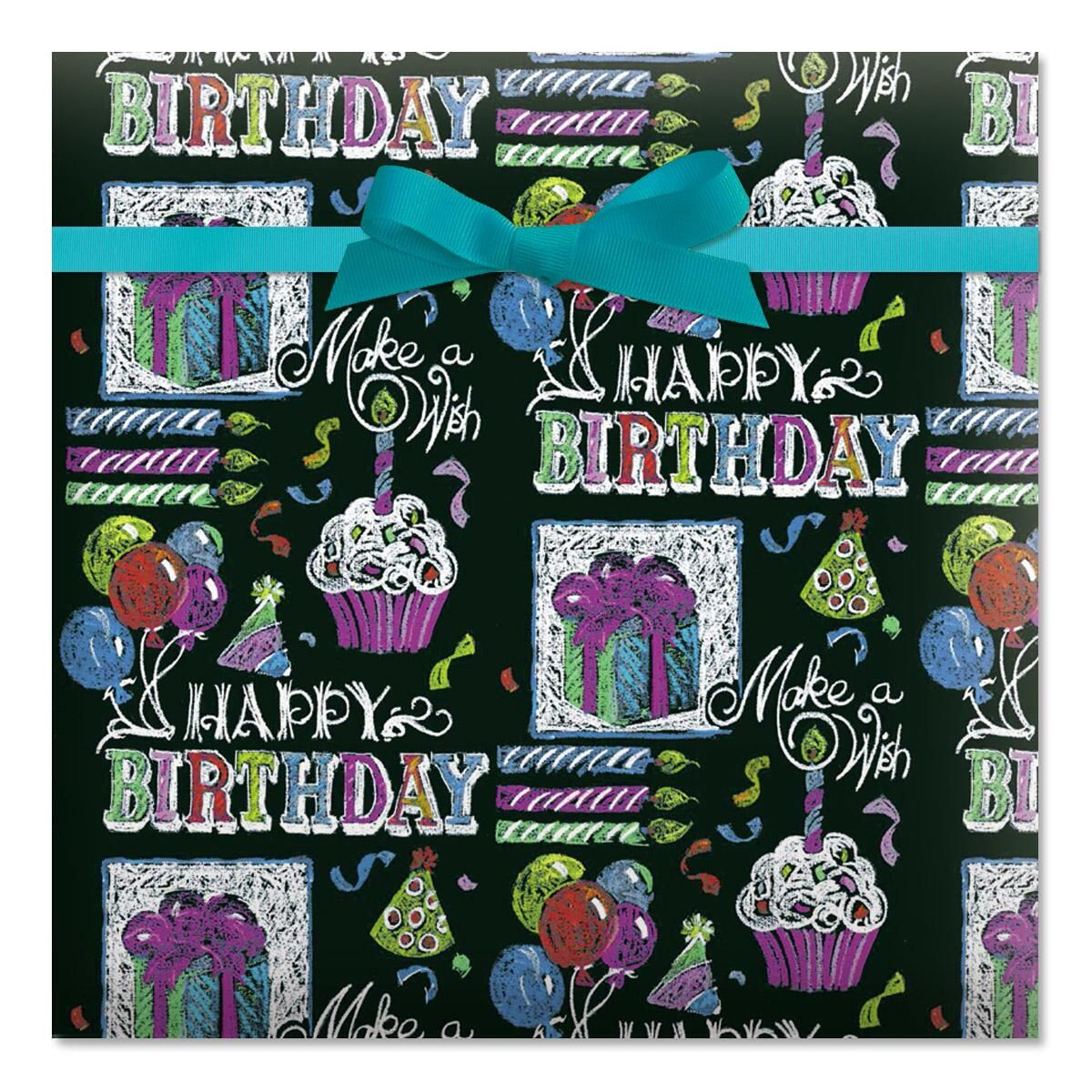 Chalky Birthday Jumbo Rolled Gift Wrap