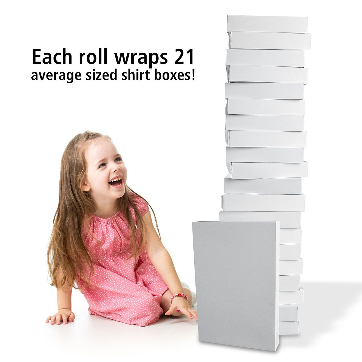 Pearl Stripe Swirls Jumbo Rolled Gift Wrap