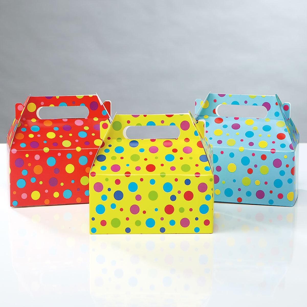Polka-Dot Treat Boxes