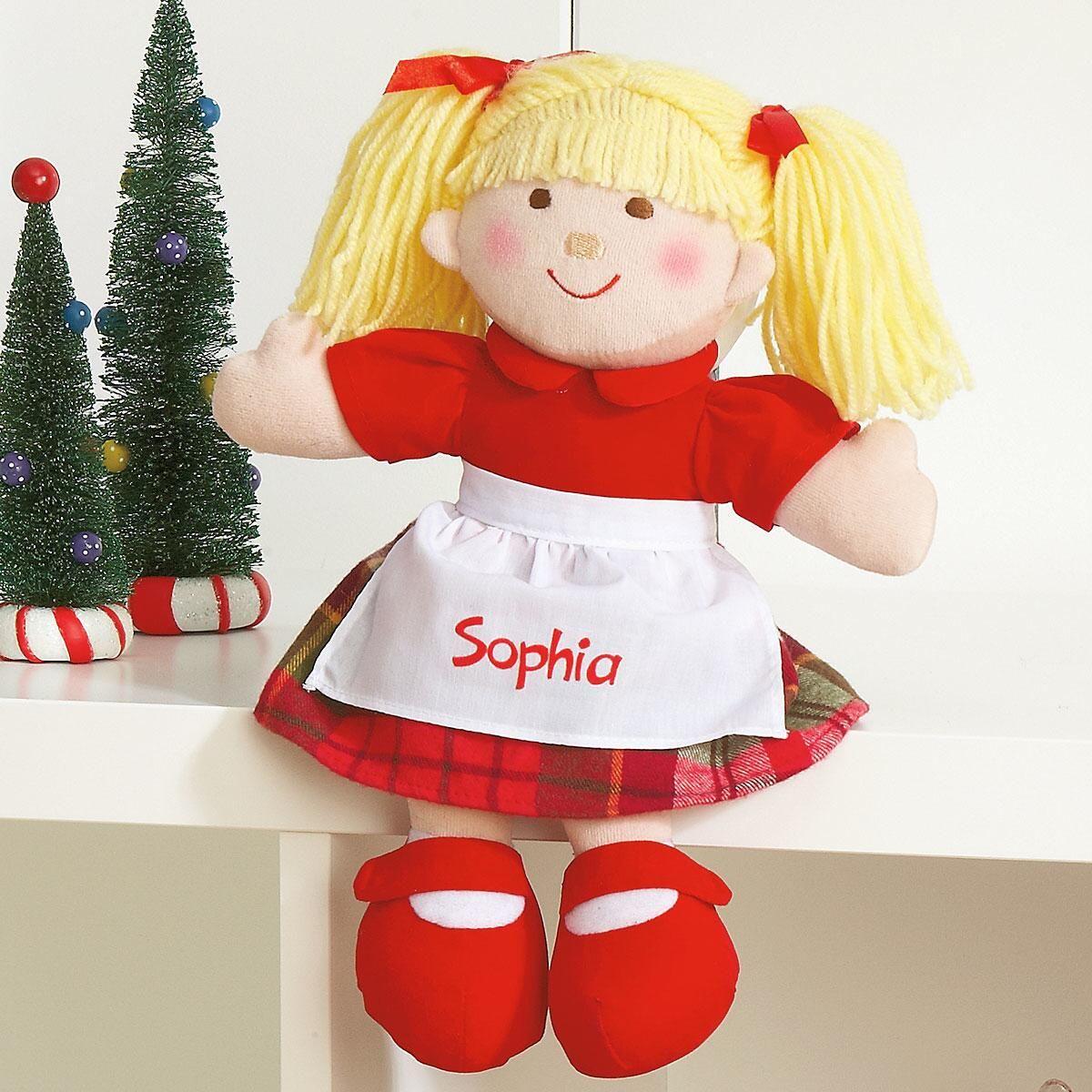 Blonde Hair Christmas Doll