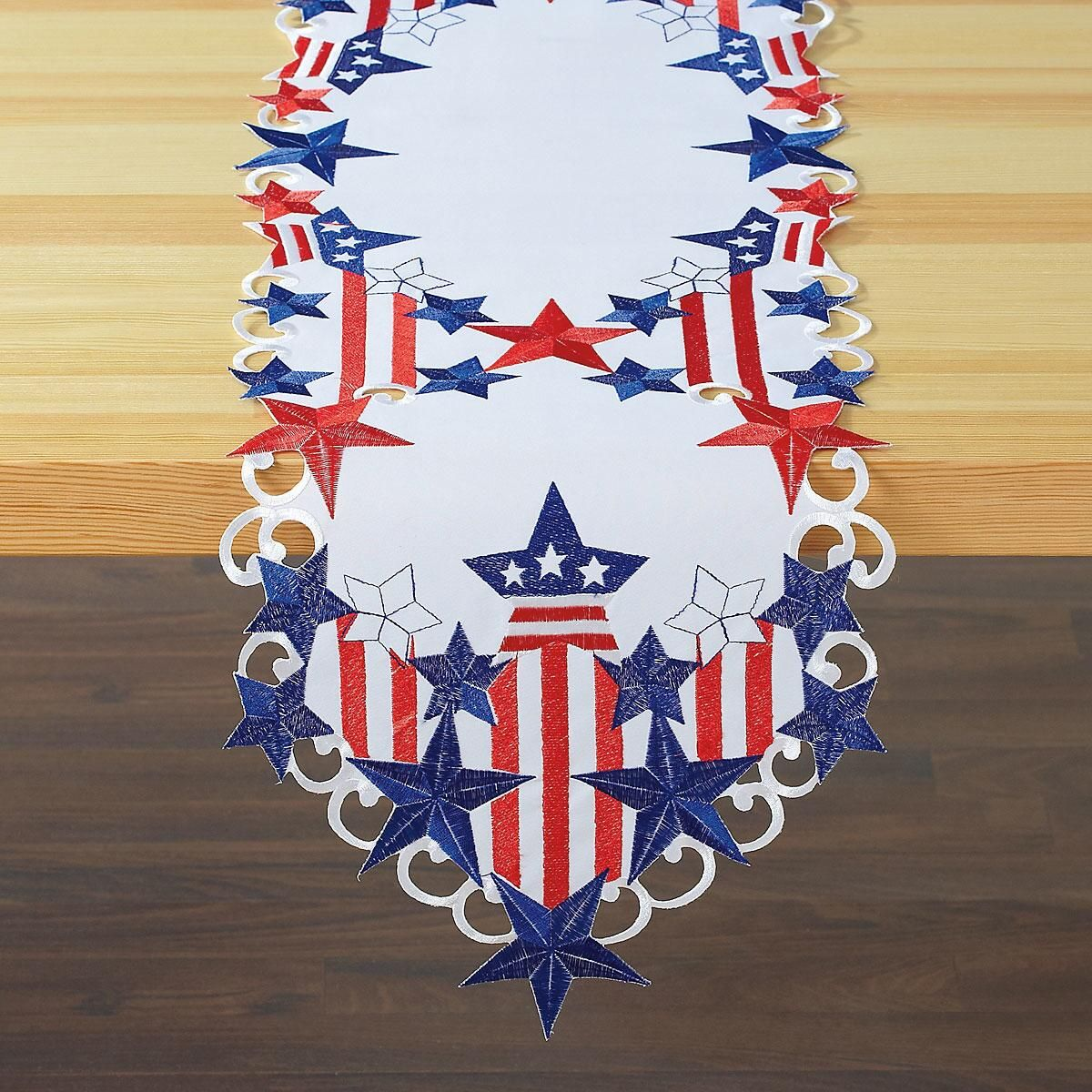 Diecut Patriotic Table Runner