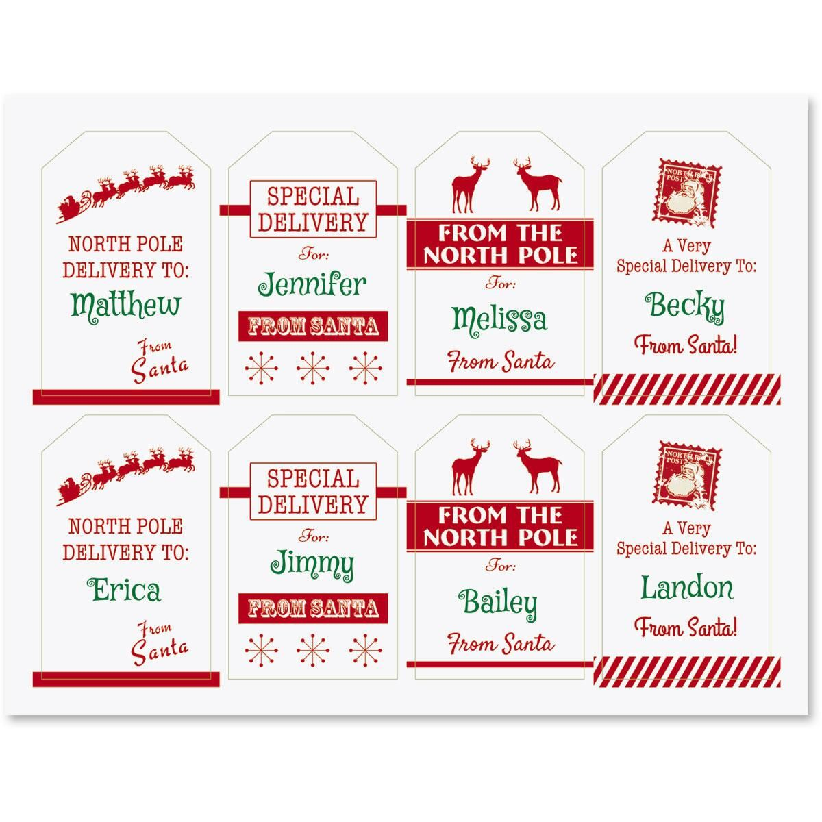 from santa gift tags current catalog