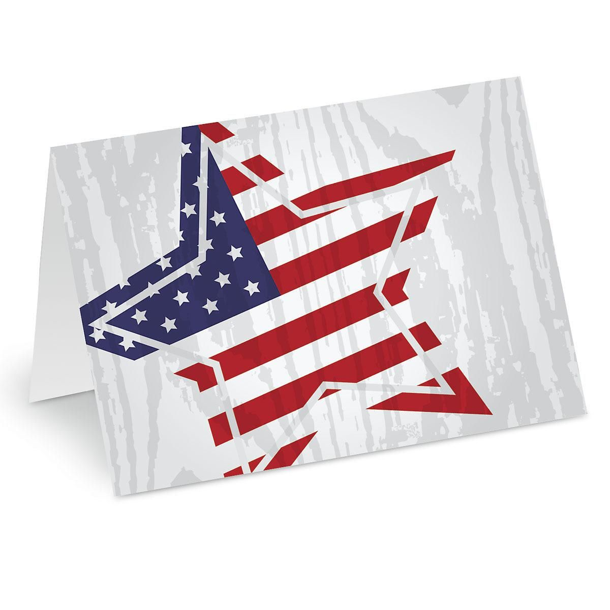 Patriotic Star Note Cards