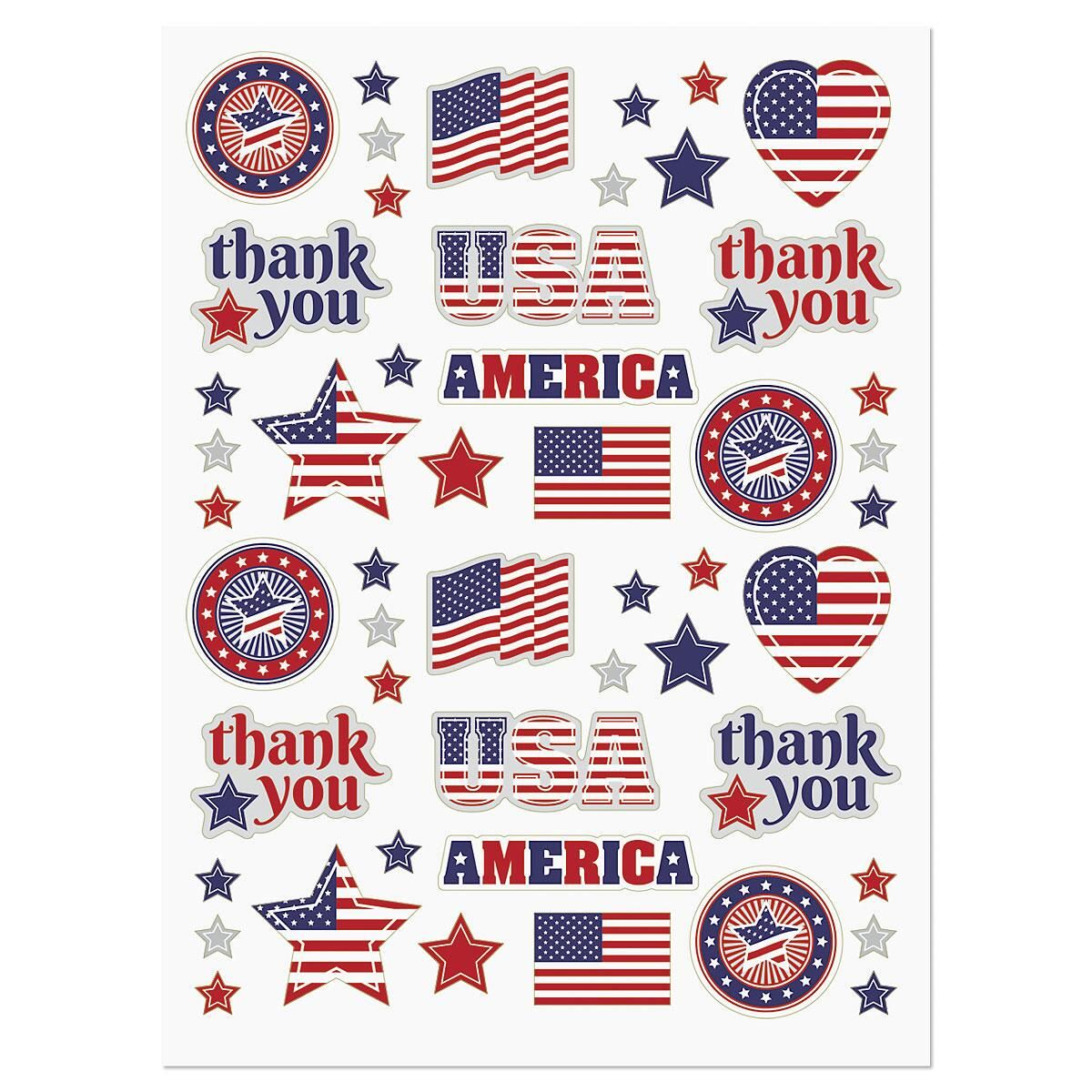 Patriotic Icons Stickers