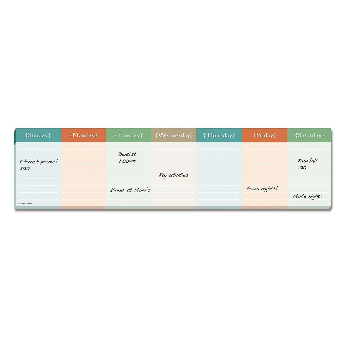 Magnetic Week at a Glance Calendar