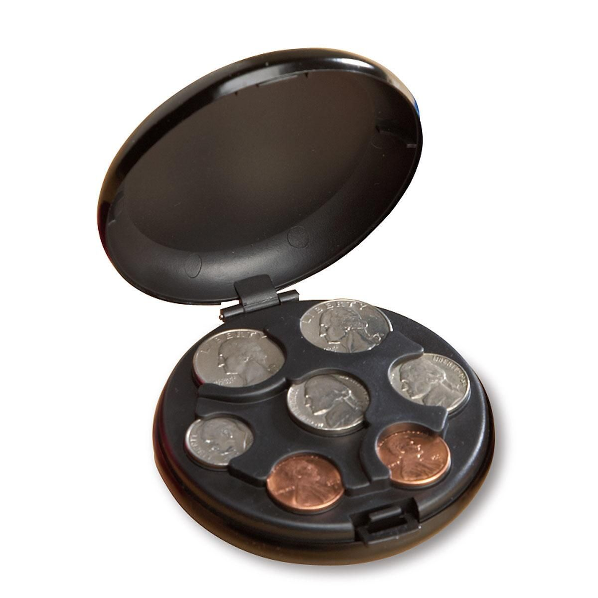 Black Coin Holder Case