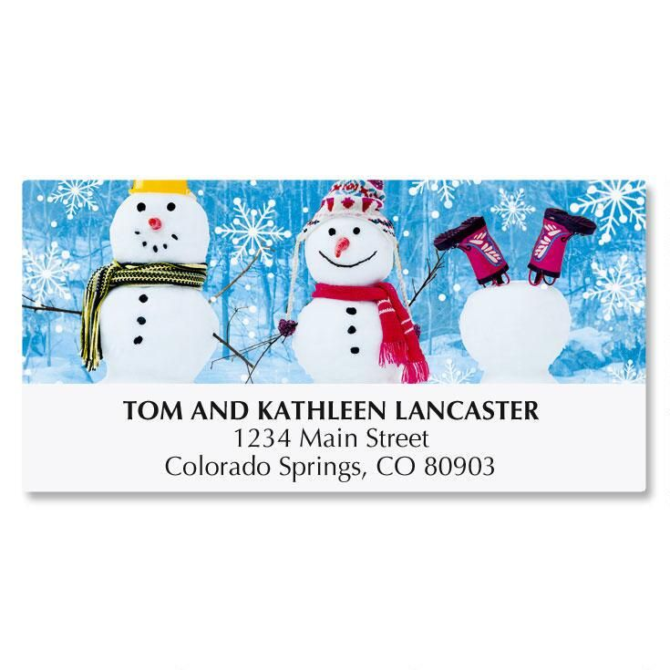 Snowman Trio Address Labels
