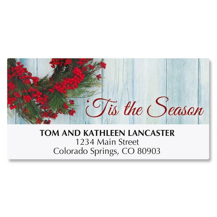 Wreath Deluxe Address Labels