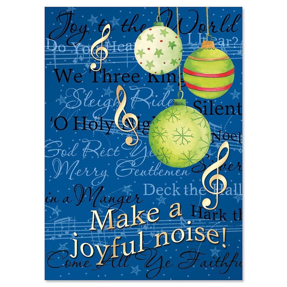 Songs of the Season Nonpersonalized Christmas Cards - Set of 18
