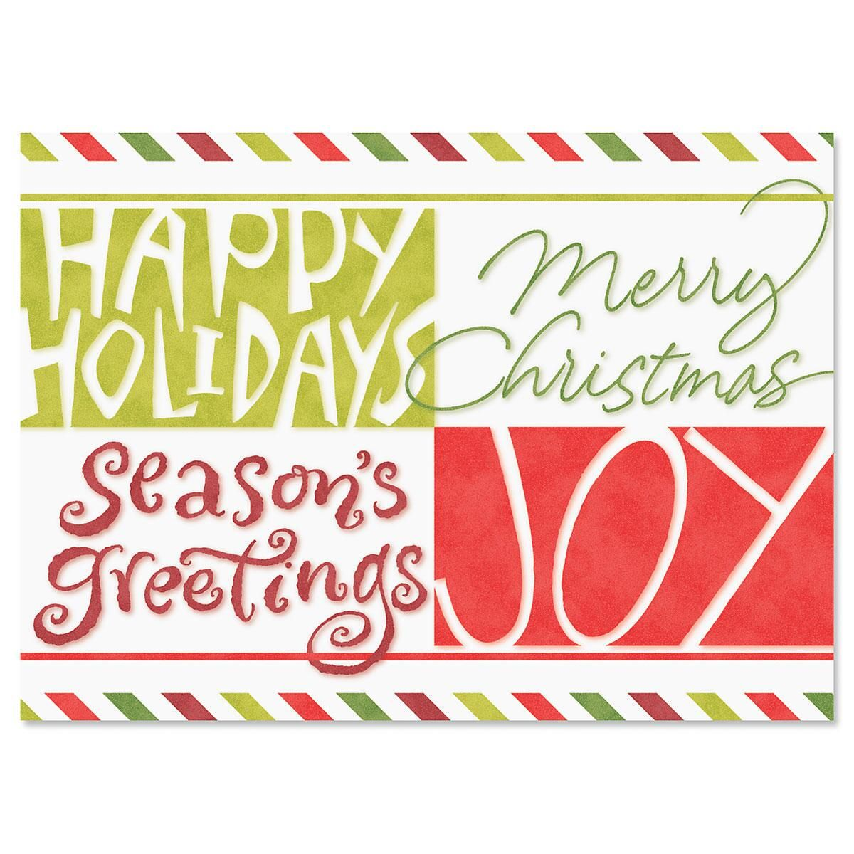 Big Greetings Nonpersonalized Christmas Cards - Set of 72