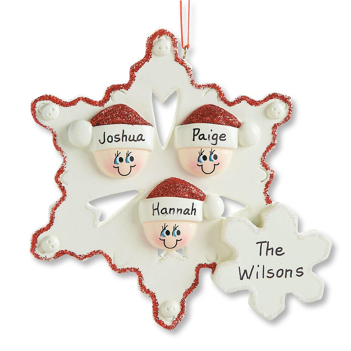 Snowflake Family Ornament