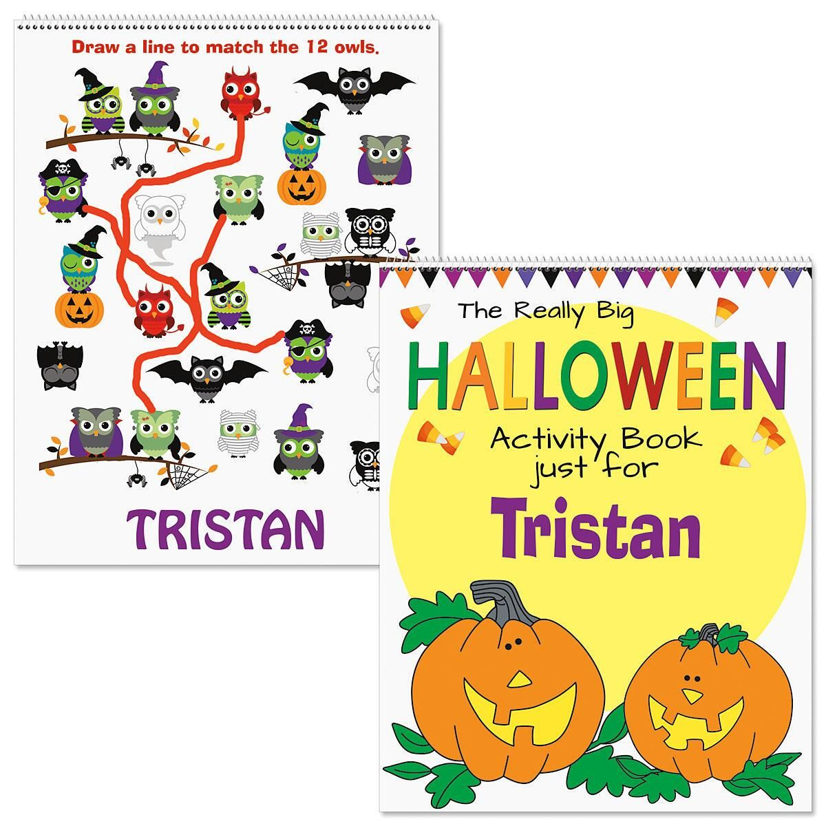 Personalized Halloween Activity Book