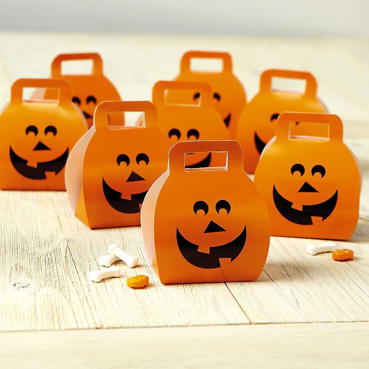 Halloween Pumpkin Favor Boxes